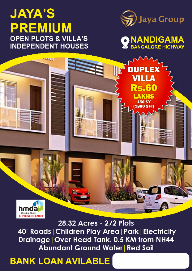 Independent Houses For Sale in Hyderabad in Nandigama, Kothur